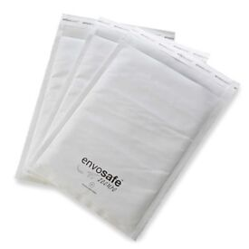 Medium Size Secure White Envelope with Bubble Protection Envosafe G4 - 9.4 by 12.6 Inches - 15p Each