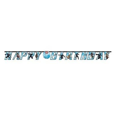 BLACK PANTHER JUMBO LETTER BANNER KIT ~ Birthday Party Supplies Decoration Blue - Jumbo Party
