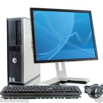 WINDOWS 7 FULL DELL COMPUTER DESKTOP TOWER SET PC 2GB RAM 160GB HDD WIFI BARGAIN