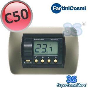 3s termostato ambiente da incasso digitale c50 fantini e for Termostato fantini cosmi c48 prezzo