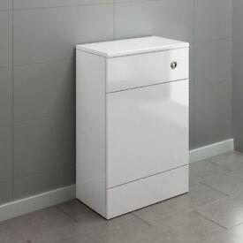 Bathroom 500mm Harper Gloss White Back To Wall Toilet Unit MF2000 REF:GT1228