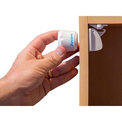 AYCORN Best Child  Baby Safety Proof Magnetic Cupboard Locks, 10 locks  2