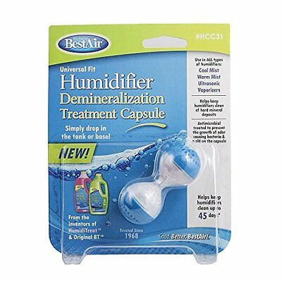 BestAir HCC31 Humidifier Cleaner Capsule, 6 Pack