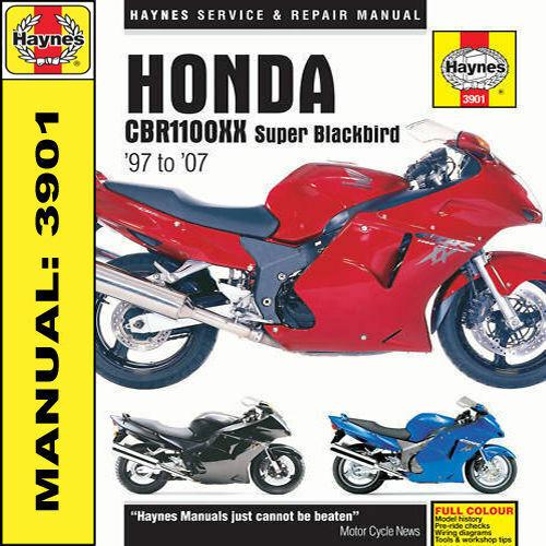 Haynes Manual Honda CBR1100XX Super Blackbird 1997-2007 3901