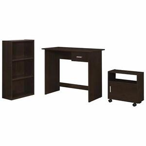 Reduced - Contemporary 3-Piece Desk Set with Bookcase & Mobile Storage Cabinet - Brand  New