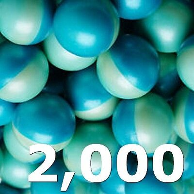Box of 2000 count .68 Caliber Paintballs Rounds - Blue - QUALITY - WHOLESALE