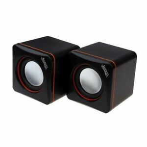 Jedel USB Powered Mini PC Speakers 6W RMS Travel Portable For PC Laptop Tablet