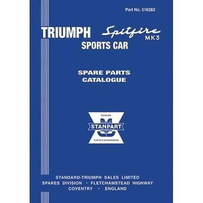 Triumph Spitfire Mk3 Spare Parts Catalogue paper book