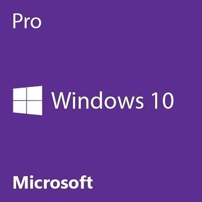 Microsoft Windows 10 Pro Professional Genuine License Key Product 32-64bit