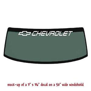 Windshield Decal EBay - Chevy windshield decals trucks