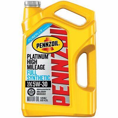 (Pennzoil 550045195 Platinum 5 quart 5W-30 High Mileage Motor Oil)
