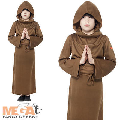 Monk Boys Fancy Dress Medieval Friar Tuck Childrens Kids Costume Childs Outfit - Child Monk Costume