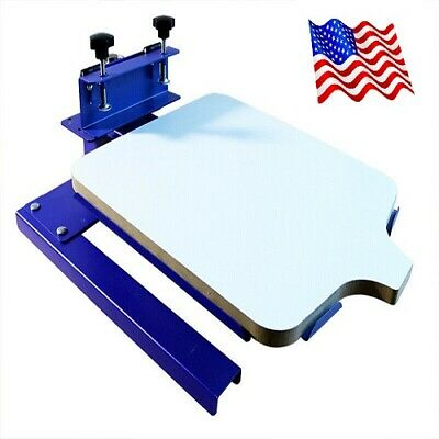 One Color Spinning T-shirt Screen Printing Machine Two Directions Head Shaking