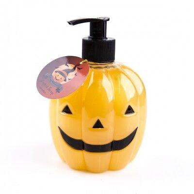 Halloween Kürbis Seifenspender mit Flüssigseife im Pumpspender Duft:Orange 465ml