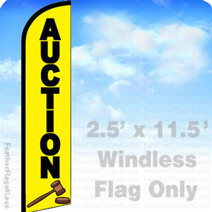 AUCTION - Windless Swooper Flag Feather Banner Sign 2.5x11.5 - yf