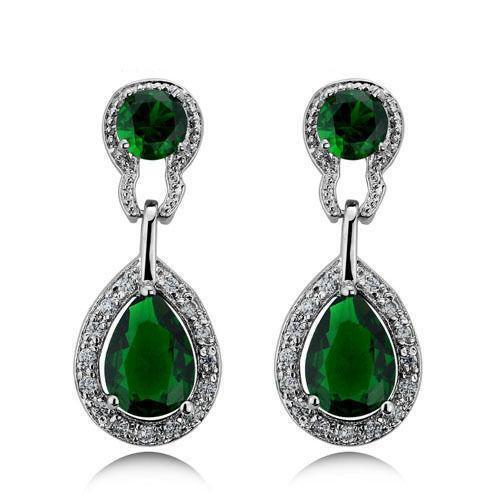 Emerald Drop Earrings Ebay