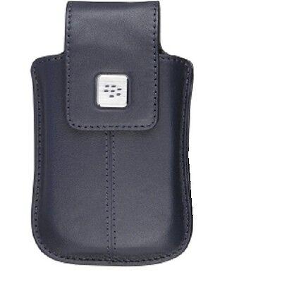 Blackberry Curve Belt Clip - BlackBerry Dark Blue Leather Holster with Swivel Belt Clip For Curve 8900 8520