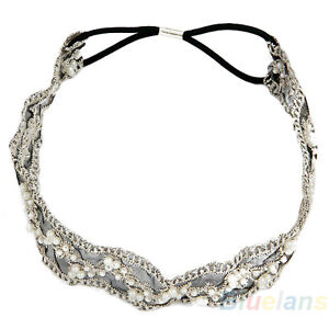 Hot-Fashion-Sweet-Girls-Lace-Pearl-Beads-Headhand-Hairband-Hair-Head-Band-BA4A