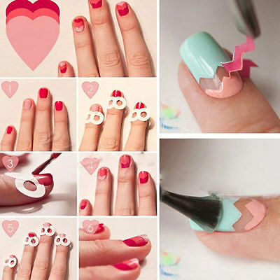 15Pcs/Set Nail Art Transfer Stickers 3D Design Manicure Tips Decal Decoration