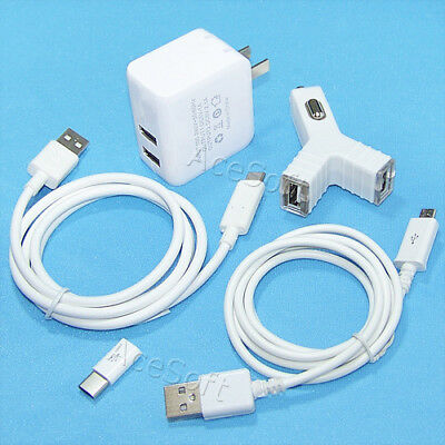 Cellular Phone Power Adapter Cable (For ZTE Blade Spark Z971 CellPhone Dual USB Power Adapter Type-C Micro Cable 3ft )
