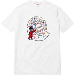 Supreme Joe Roberts Swirl Tee White Medium SS17 NEW