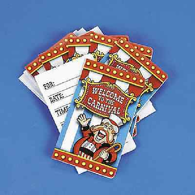 (Under The Big Top Invitations 8 Piece Carnival Party Decoration)