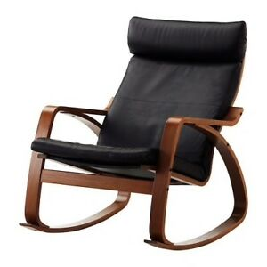 Leather POANG rocker chair - ikea - near new condition