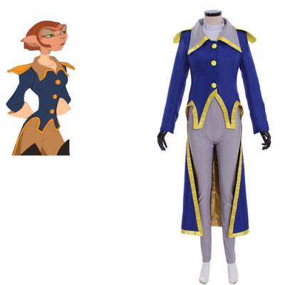 NEW Treasure Planet Captain Amelia Cosplay Costume Women - Captain Planet Costume