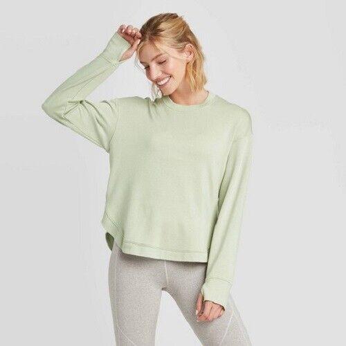 Women's Frandia Long Sleeve Pullover – JoyLab Fern XS Activewear
