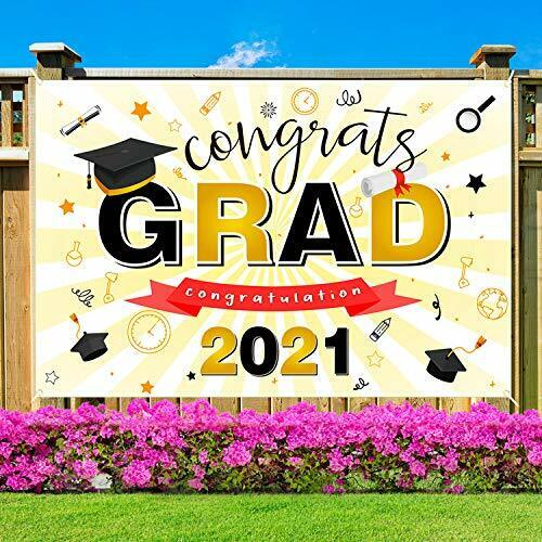 Large Class of 2021 Graduation Banners Backdrop Party Decorations Supplies