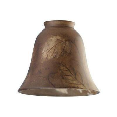 """Westinghouse 8126500 2-1/4"""" Hand-Painted Leaf Design Glass Bell"""