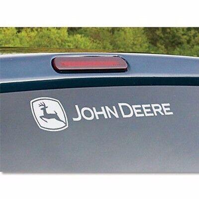 john deere dear tractor truck sticker decal rear window logo windshield white