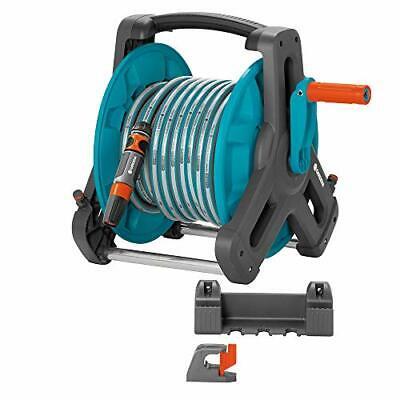 GARDENA Classic wall-fixed Hose Reel 50 Set: Mobile hose reel, wall-mountable to