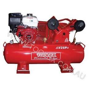 Air Compressor V25P-125L 9 Hp Petrol Honda Engine 125L Tank Hallsville Tamworth City Preview