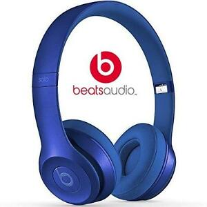 NEW OB BEATS SOLO2 HEADPHONES BLUE SAPPHIRE - ON-EAR - SOLO 2 - WIRED 82118417