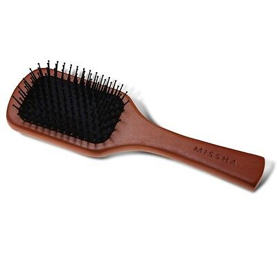 [Missha]Wooden Cushion Hair Brush Anti-static(Medium)_Korean hair brush