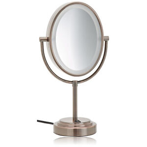 Conair Be47br Oiled Bronze 1x 7x Lighted Makeup Mirror