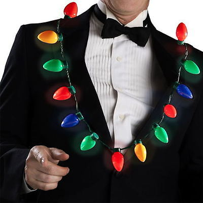 Christmas Party Favors For Adults (LED Light Up Flashing Christmas Bulb Necklace Party Favors For Adults Or)