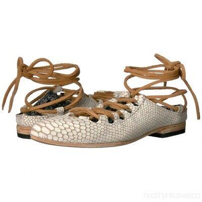 "NEW $175 FREEBIRD BY STEVE ""Enya"" Ivory Embossed Leather Ballet Flat - SZ 7M ()"