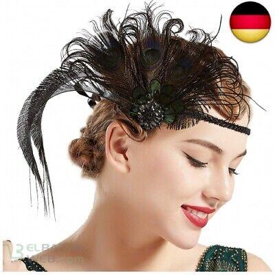 ArtiDeco Damen 1920s Stirnband Pfau Feder 20er Jahre - Flapper Stirnband