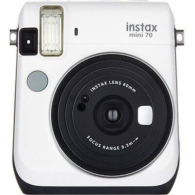 Fujifilm Instax Mini 70 Instant Fuji Film Camera (Moon White)