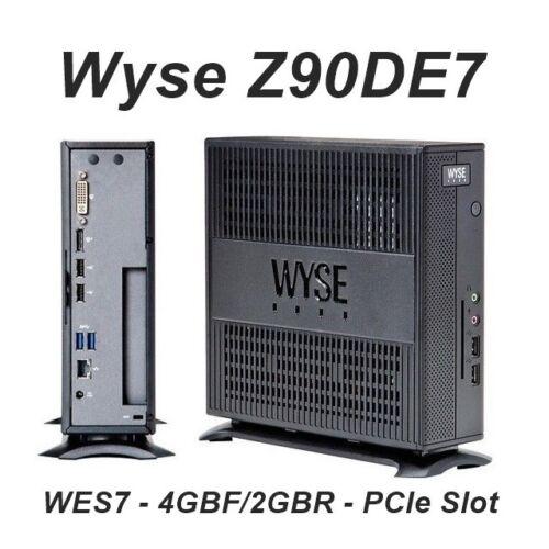 Wyse Z90DE7 Expanded Thin Client  4GB-F 2GB-R  1xG-T56N 1.65 GHz PCIe Slot plus