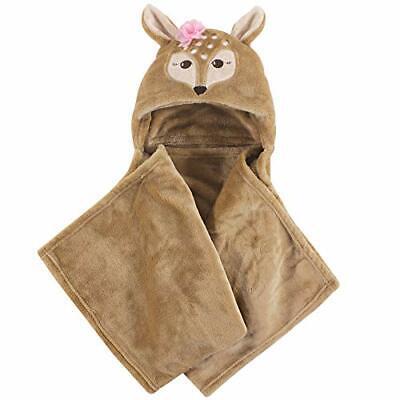 Hudson Baby Unisex Baby and Toddler Hooded Plush Blanket, Fa