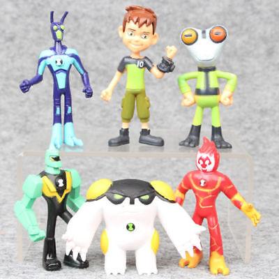 6pcs Ben 10 PVC Action Figure Play Cake Topper Kid Toy Halloween Gift 2.5-3.5''