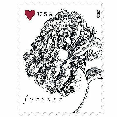 Vintage Rose USPS Forever Stamps, 2 Sheets of 20 Stamps. New!