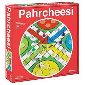 New Pressman Toy Parcheesi in Box Classic Board Game Race to Home Ages 6 Up Red