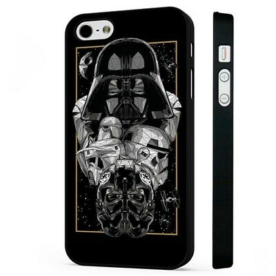 Dark Side Star Wars Darth Vader Storm Trooper BLACK PHONE CASE COVER fits iPHONE