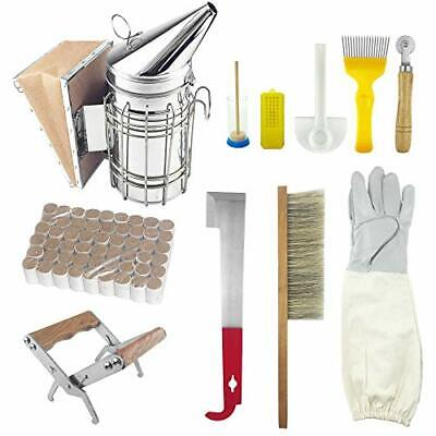 11pcs Beekeeping Toolssupplies Kit Bee Hive Smoker Bee Brsuh Accessory Honey