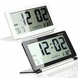 Multifunction Silent LCD Digital Travel Desk Electronic Alarm Clock Large Screen