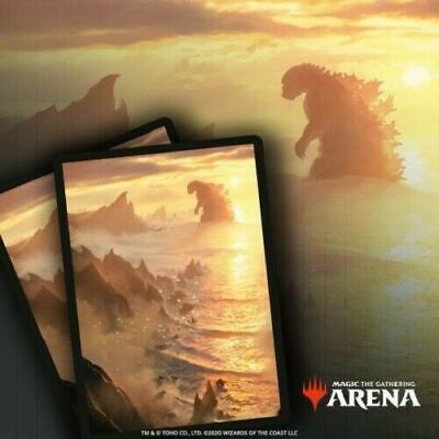 SECRET LAIR MTGA MTG ARENA IN HAND Godzilla Lands Themed Card Sleeve CODE